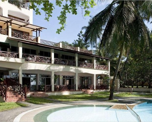 Neptune Beach Hotel is located on Bamburi Beach, approximately 15 minutes drive north of Mombasa town.  All 80 bedrooms are air-conditioned with private bathroom and balcony. Facilities include restaurants, discotheque, bars, TV lounge, swimming pool and floodlit tennis courts nearby. Windsurfing, catamarans, deep sea fishing, scuba diving and boat trips can be arranged. The Resort boasts of 78 elegantly furnished rooms, with spectacular view of lush tropical gardens.