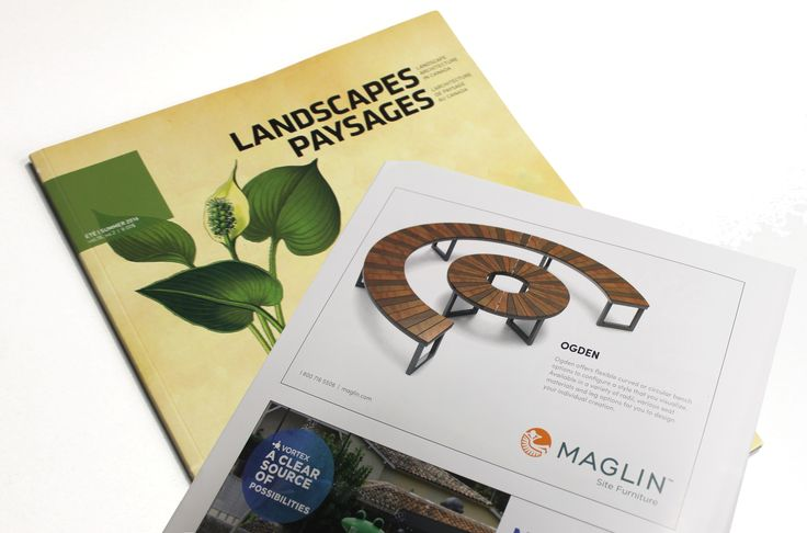 Maglin's half page ad showcasing #Ogden was in the Landscapes Architecture in Canada Summer 2016 issue!