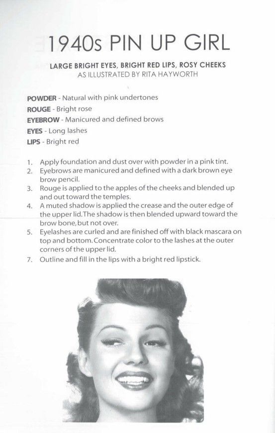 1940s #makeup guide -- how to look like a pin-up girl!