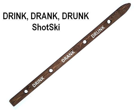 Shot Ski, shotski party ski shots...Drink, Drank, Drunk! SHOTSKISHOP.COM