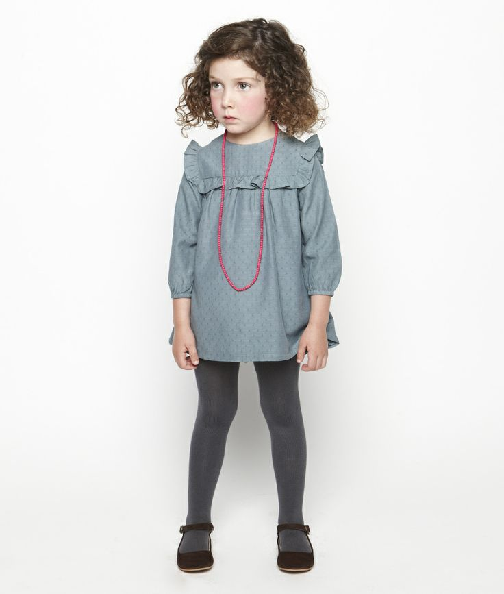 Blue ruffle dress - Nicoli