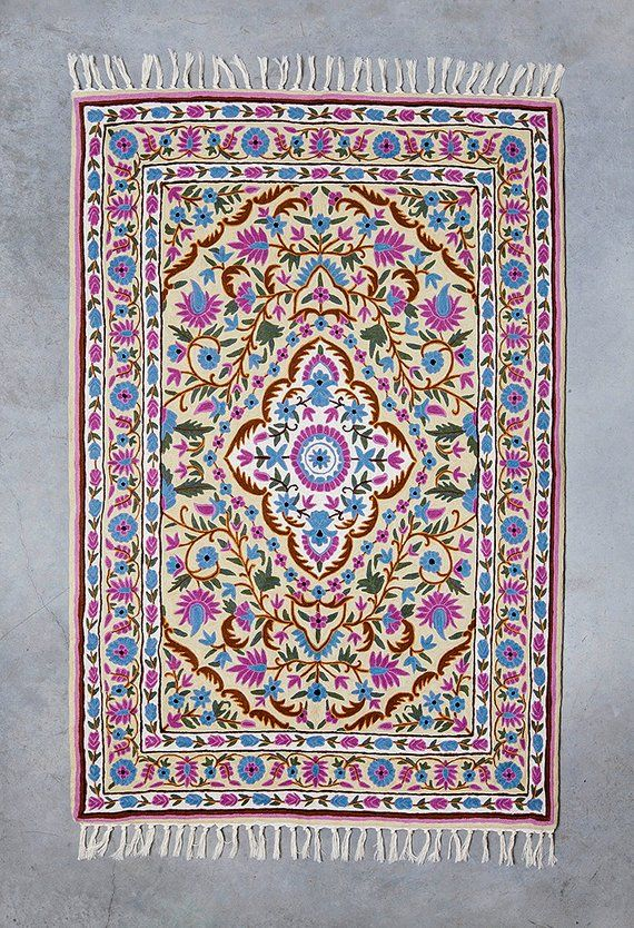 5x8 Oriental Pink Rug Hand Knotted Flower Design Made Of Australian Wool Would Make A Beautifu