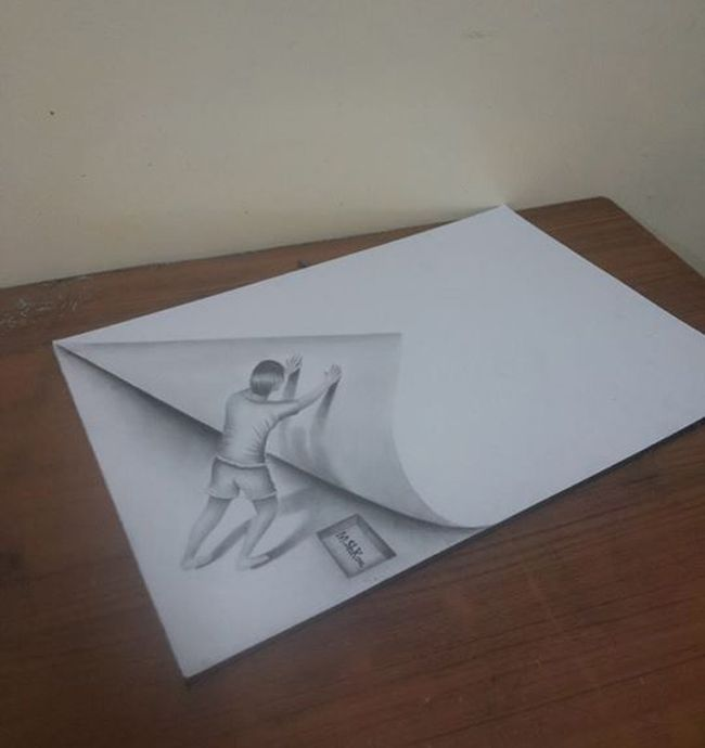 Best D Drawingsoptical Illusions Images On Pinterest Draw - Artist creates amazing 3d sketches that leap from the paper theyre drawn on