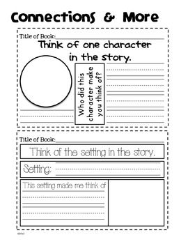 GUIDED READING JOURNAL: KINDERGARTEN & FIRST GRADE - TeachersPayTeachers.com