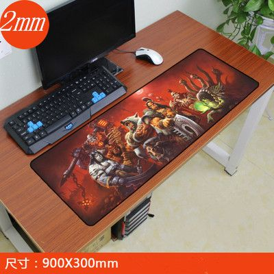 900x300mm World of Warcraft gaming mouse pad locking edge mouse pad non-slip mousepad laptop mat for lol overwatch game players
