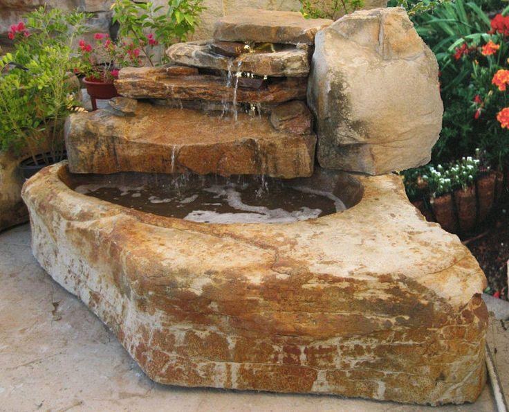 M s de 1000 ideas sobre fuente de piedra en pinterest for Cascadas y fuentes de agua para jardin