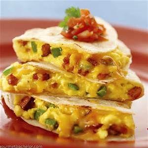 Breakfast quesadillas - corn tortillas for gluten free!