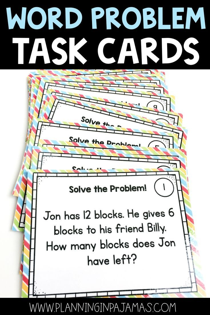 Word Problem Solving Task Cards Addition And Subtraction Grade 1 Math Math Problem Solving Activities Addition And Subtraction Word Problems Task Cards Addition and subtraction problem solving