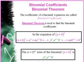Binomial Distribution - The Binomial Theorem & Pascal's Triangle
