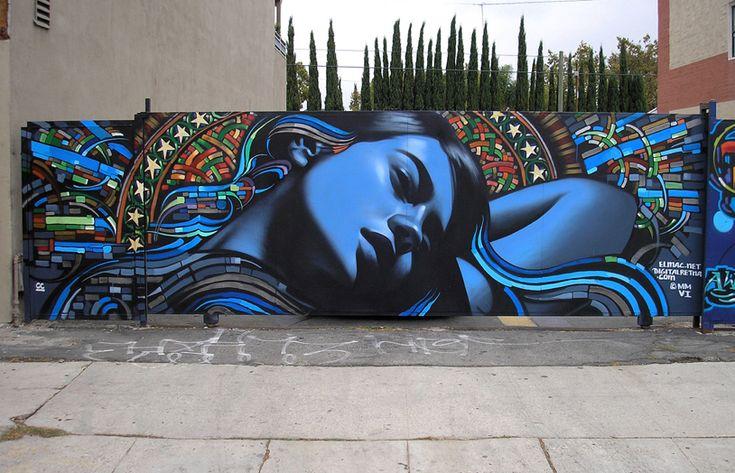 The Voice of Reason: Beautiful Graffiti, The Angel, Street Art, Blue Hair, Murals Art, Everexpand Artform, Digital Cameras, El Mac, Streetart