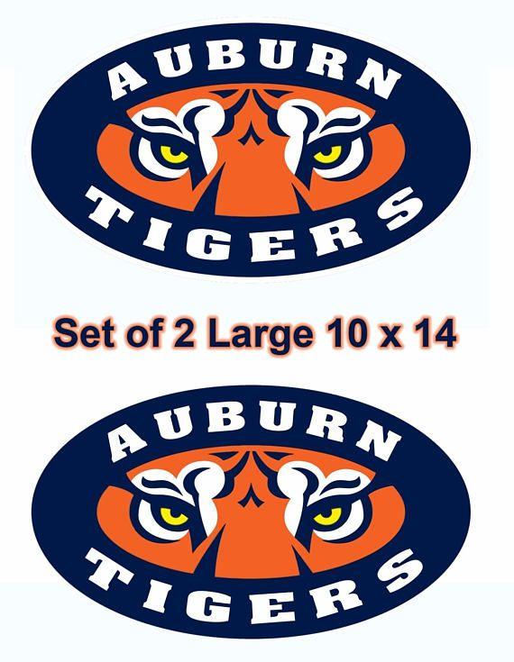UNIVERSITY OF Auburn Large 14 inch Wall Cornhole Decals / Set