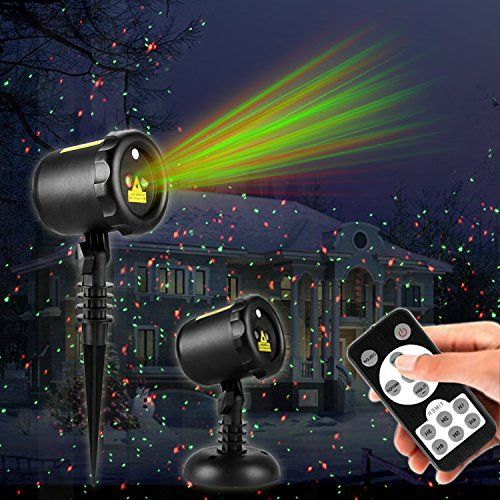 Christmas Laser Lights Outdoor Projector Lights With Remote Control Ip65 Waterproof Red And Green Laser Light Show Garden Spotlight For Xmas Holiday Party Lands Outdoor Projector Garden Spotlights Laser Lights
