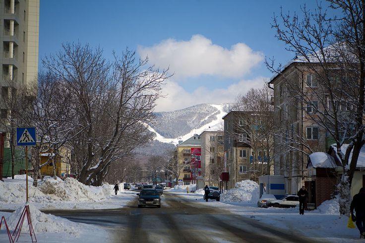 Central part of Yuzhno-Sakhalinsk ◆Yuzhno-Sakhalinsk - Wikipedia https://en.wikipedia.org/wiki/Yuzhno-Sakhalinsk #Yuzhno_Sakhalinsk