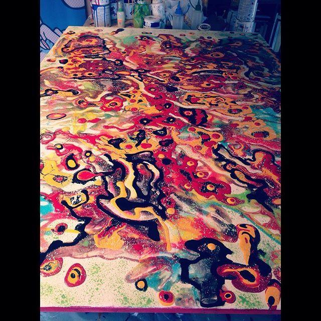 Work in progress (more) ... #art #arte #originalart #painting #abstract #contemporary #instaart #instacool #liveauthentic #color #inspiration #work #inprogress #creativity