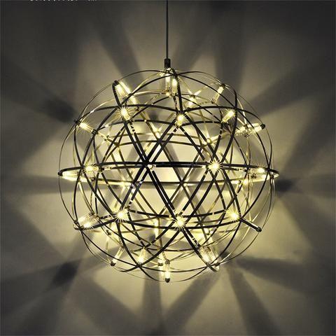 Stainless Steel Modern Suspension Ball Shape Pendant Lights In 2020 Led Pendant Lights Modern Led Ceiling Lights Led Ceiling Lights