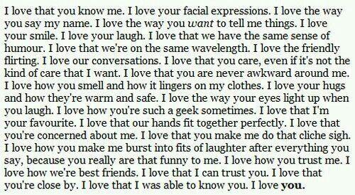 I love that...