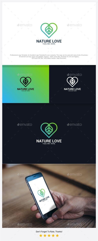 Nature Love Logo - Nature Logo Templates Download here : https://graphicriver.net/item/nature-love-logo/18670263?s_rank=119&ref=Al-fatih