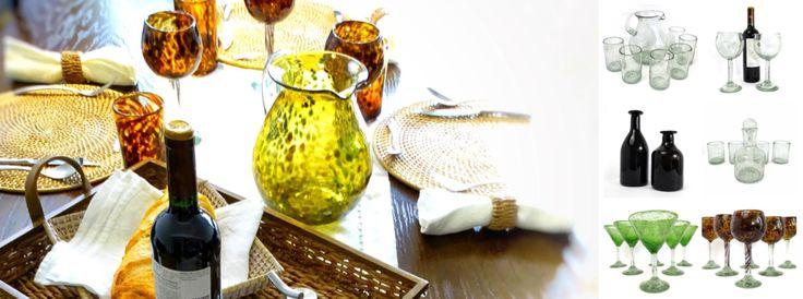 Handblown Glass Tableware & Decor