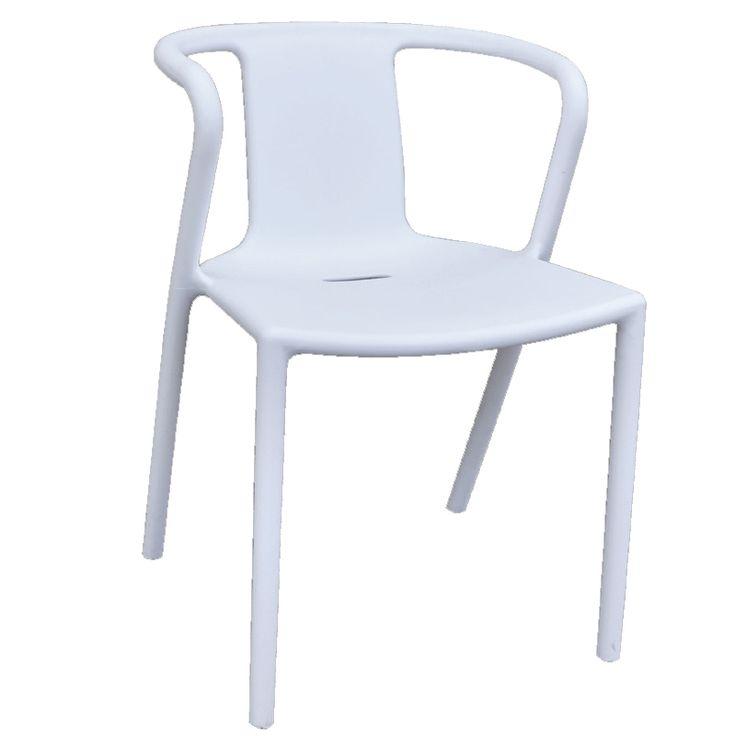 Spring garden armchair white PP