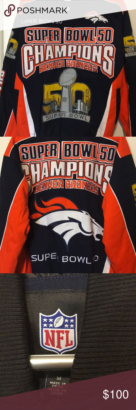 Broncos Super Bowl 50 jacket. Denver Broncos Super Bowl 50 jacket. Jackets & Coats Bomber & Varsity