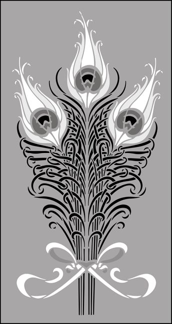 Art Nouveau Design Motifs   ... Art Nouveau stencils online. Page 4 of our Art Nouveau motif stencil