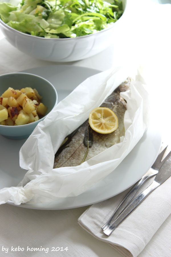 "Sunday Lunch Recipe: Regenbogenforelle ""en papillote"" #truite en papillote"" #fish #recipe #Rezept"