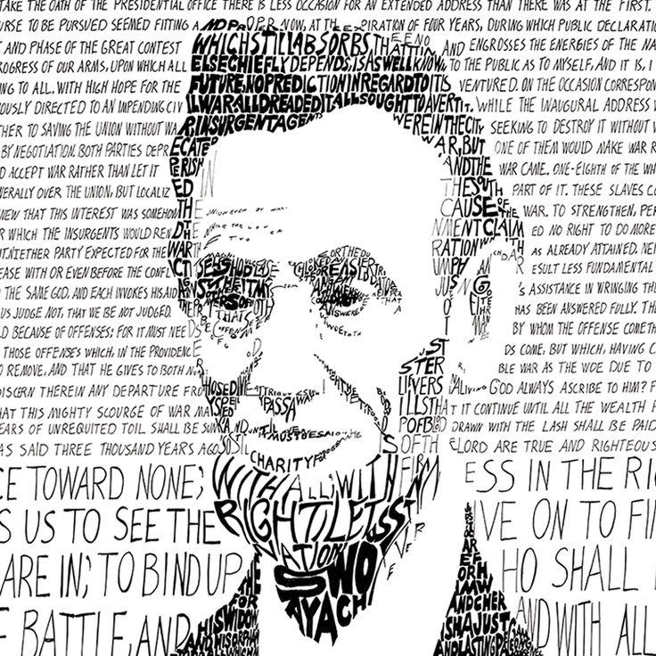 Abraham Lincoln Word Art Print