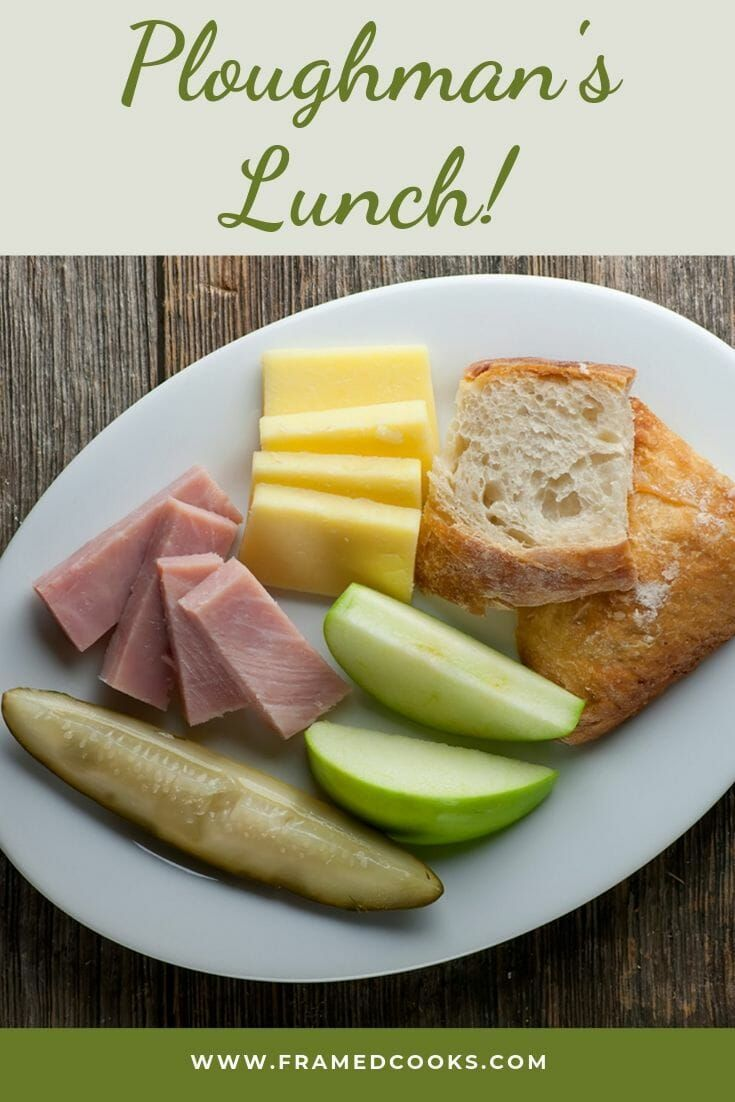This Spin On A Classic Ploughman S Lunch Is Easy And Delicious Cheese Ham Fruit Bread Pickle And Beer Wh Ploughmans Lunch Ploughmans Vegitarian Recipes
