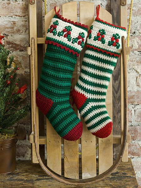 10 Free Christmas Stockings Crochet Patterns More