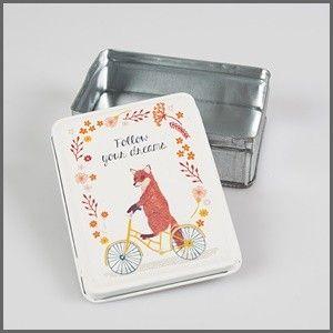 Lief tinnen vos doosje follow your dreams - nice little box