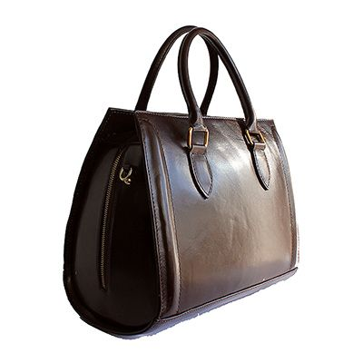 Vintage Gladstone Style Dark Brown Leather Handbag - Down to £69.99 from £99.99