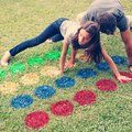 Homemade outdoor Twister game by You + Me