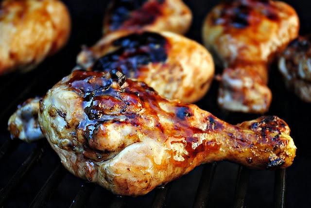 Sweet and Tangy Peach, Apricot & Balsamic Glazed Chicken. Family will love!Chicken Recipe, Chicken Drumsticks, Chicken Thighs, Glaze Chicken, Grilled Chicken, Balsamic Chicken, Favorite Recipe, Glaze Drumsticks, Balsamic Glaze