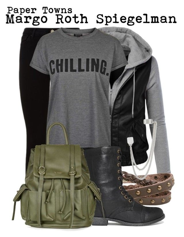 Paper Towns- Margo Roth Spiegelman by darcy-watson on Polyvore featuring Topshop, 7 For All Mankind, Rampage, Zad, French Connection, Inspired, topshop, papertowns and MargoRothSpiegelman