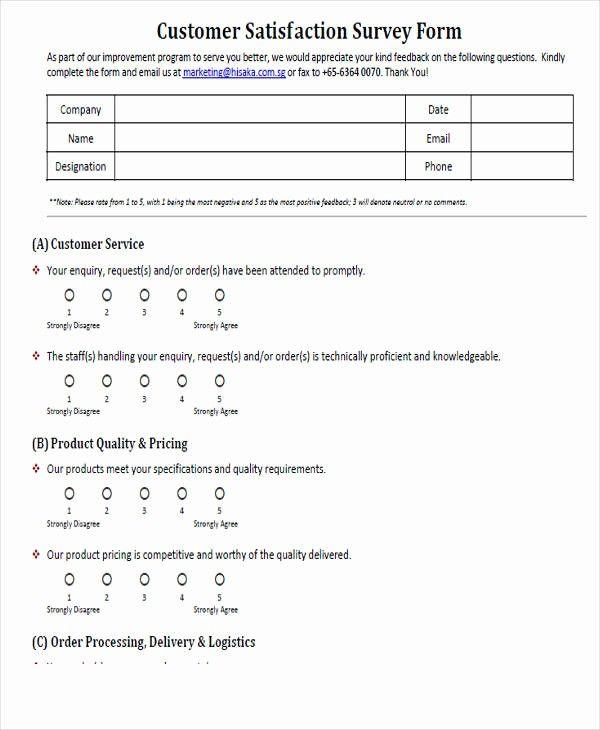 Customer Feedback Form Template Word Beautiful 54 Printable Survey Forms Survey Form Customer Satisfaction Survey Template Survey Template