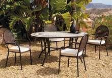 Set Mosaico Oasis/Belfast-150 de Hevea - Muebles de jardín de forja con mesa tablero mosaico Online