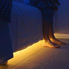 Aktiviert Bett Licht, 1.2m wasserdicht lampe streifen, flexibler Bewegung LED-Lichtleiste beleuchtung mit automatischer timer Bewegungsmelder Nachttischlampe Einzel Sensor(warmen sanften schein )