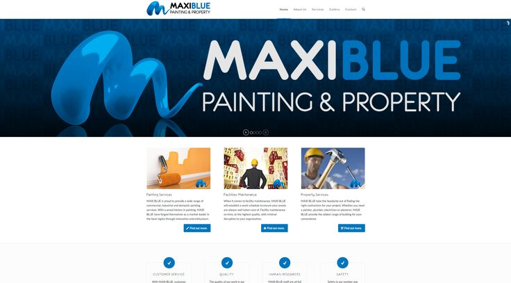 Maxi Blue Property Maintenance Services commissioned icu2 to design a logo and develop a website to better reflect the quality of the service they provide.