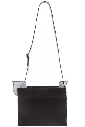 Black leather Furoshiki rectangle bag