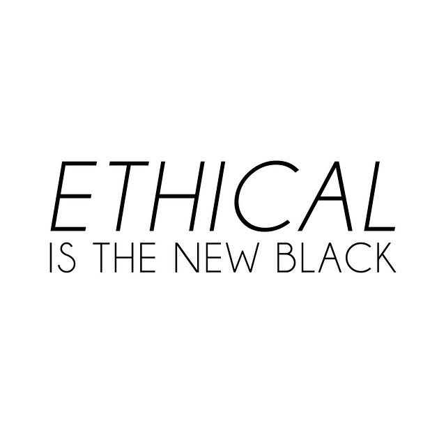 Ethical is the new black #fashion #ecochic