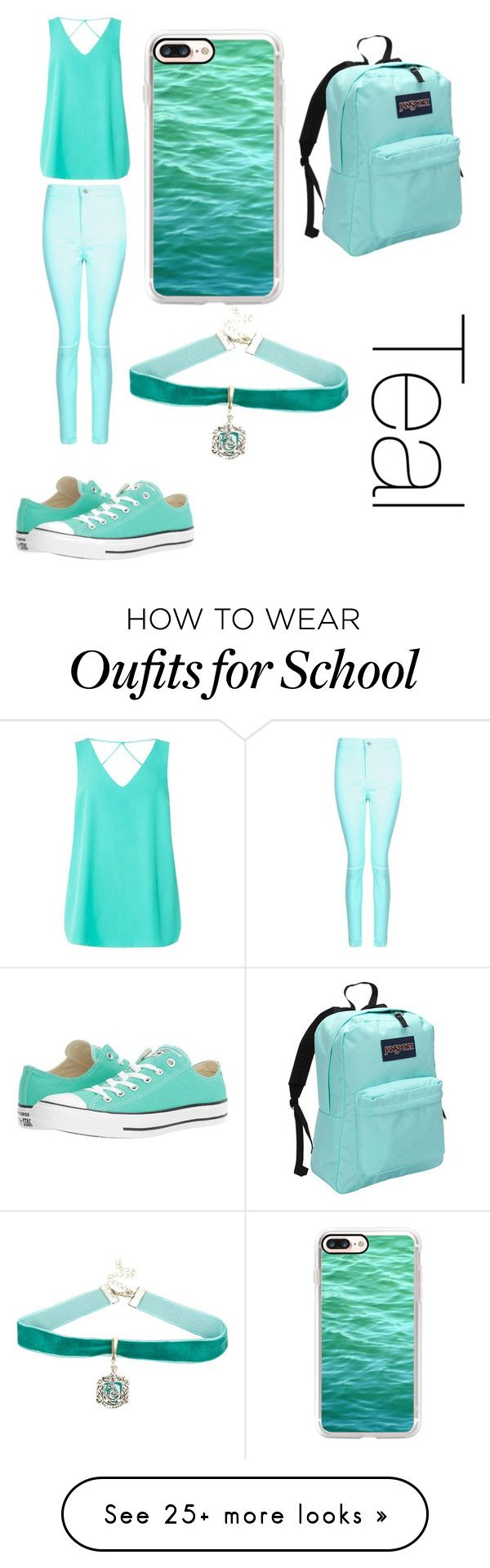 """."" by hamiltrash28 on Polyvore featuring Boohoo, Dorothy Perkins, Converse, Casetify, Warner Bros. and JanSport"