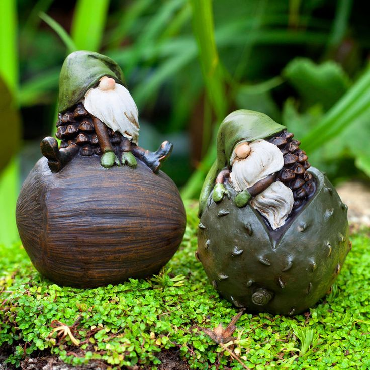 Garden Gnomes Ornament Pair The Woodland Loving Pike & Pine  #Gardens2you