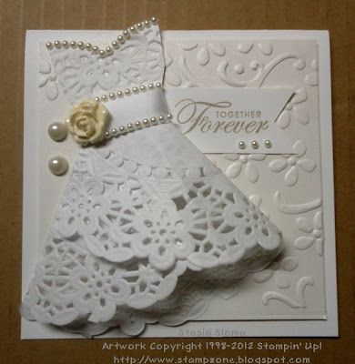 Stampin & Scrappin with Stasia. directions for dress in tutorials