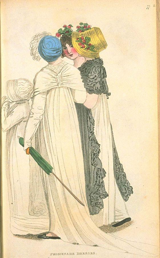 Promenade Dresses, June 1804, Fashions of London & Paris