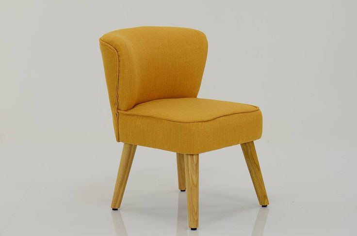 Melody Small Accent Chair Yellow Fabric
