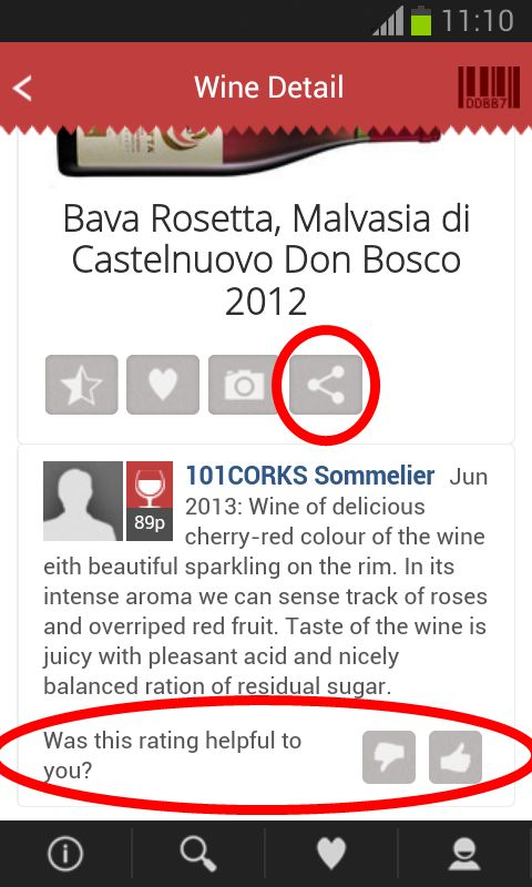 Explore new social network features. AGREE or DISAGREE with other ratings and SHARE your favorite wine!