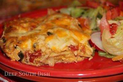 King Ranch casseroleKing Ranch Casseroles, King Ranch Chicken, Chicken Enchiladas, Casseroles Recipe, Corn Tortillas, Chicken Casseroles, Shredded Chicken, Cream Sauces, Deep South Dishes