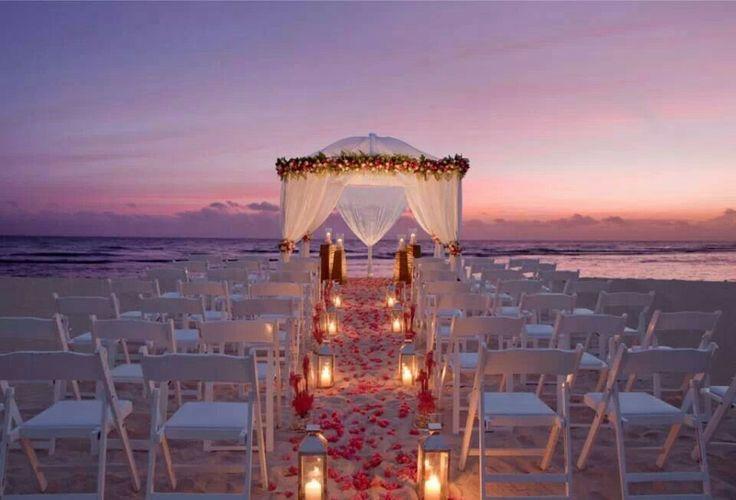 Romantic ceremony at Half Moon Rock Resort, Jamaica