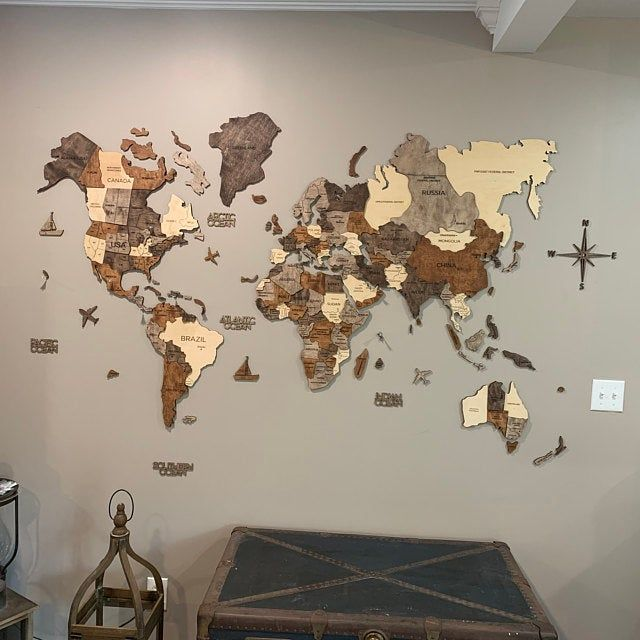 5th Anniversary Gift Custom Wooden Map Laser Cut Framed Maps Wall Art Buenos Aires Wood Map Wedding Engagement Gift for Couple