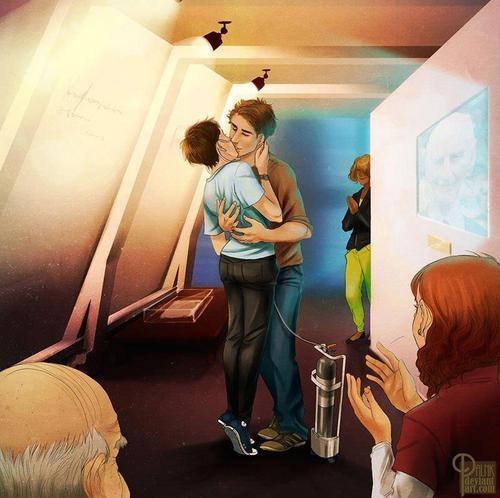 Hazel e Augustus - A culpa é das estrelas - Jonh Green